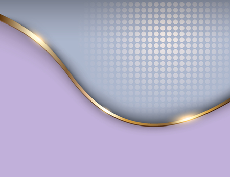 Fond d'affaires gris et or, illustration vectorielle élégante.