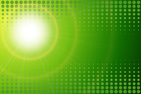 Green background, abstract sunny spring vector design. Illustration