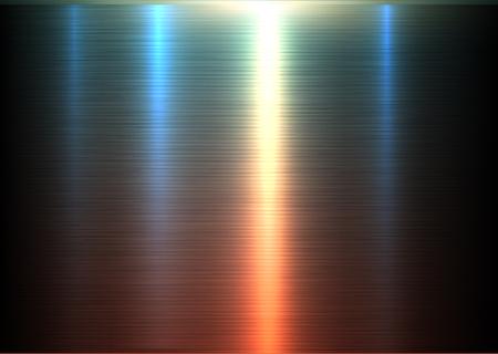 Metallbeschaffenheit glänzend gebürsteter metallischer Hintergrund, Vektorillustration.