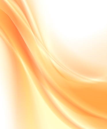 Fondo naranja abstracto, ilustración vectorial ondulada