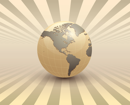 Abstract business background, 3D with earth globe. Çizim