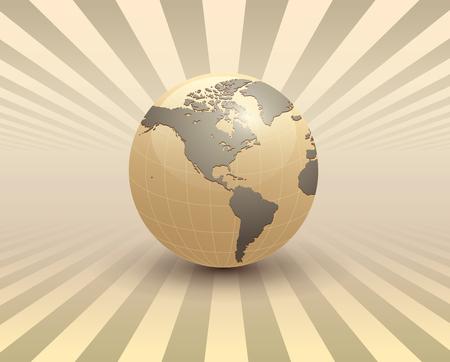 Fondo astratto di affari, 3D con il globo della terra.