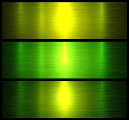 Metall Texturen grün gebürsteten metallischen Hintergrund, Vektor-Illustration.