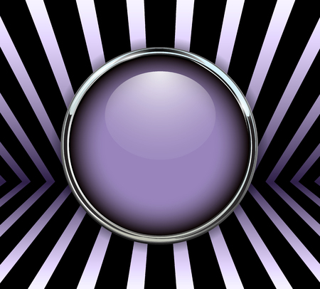 Background 3d with purple button, vector illustration.