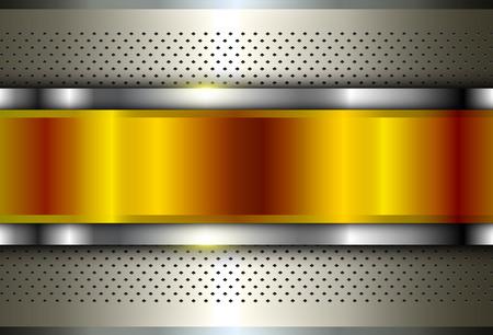 Metallic background silver gold, polished steel texture, vector design. Çizim