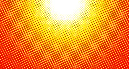 Abstract sunny background, halftone pattern sun, vector illustration.