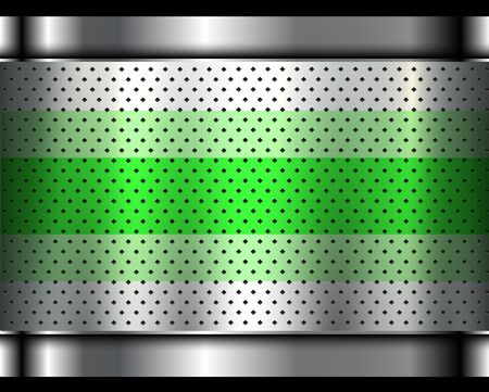 Metallic background silver polished steel texture, vector design.