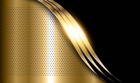 Gold metal background, elegant shiny metallic golden vector background.
