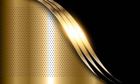 Gold metal background, elegant shiny metallic golden vector background.