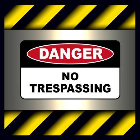 Danger, warning sign, keep out symbol. Illustration