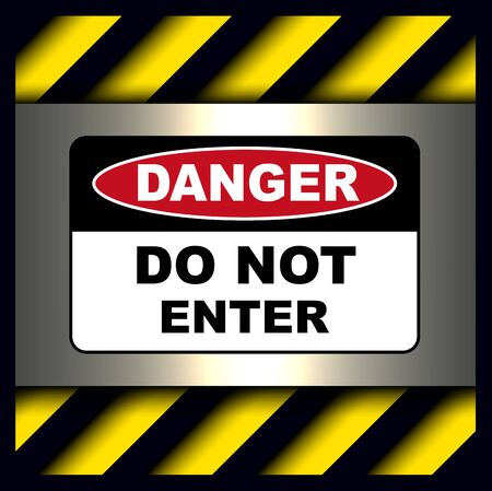 Danger, warning sign, do not enter symbol. Illustration