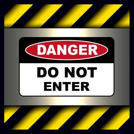 Danger, warning sign, do not enter symbol. Illustration