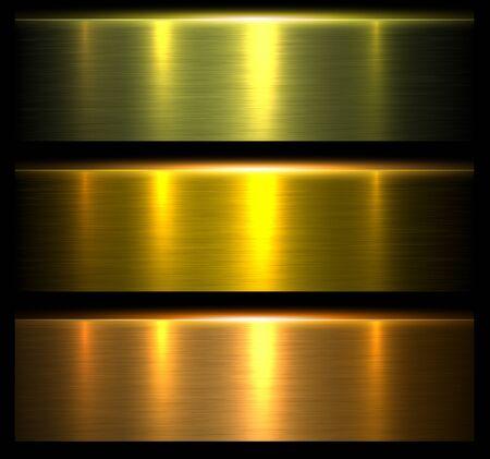 Metal textures gold, shiny brushed metallic background, vector illustration. 일러스트