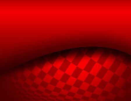 Background red 3d with chequered pattern, vector illustration