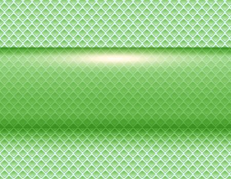 Abstract  background 3D green shiny vector illustration.