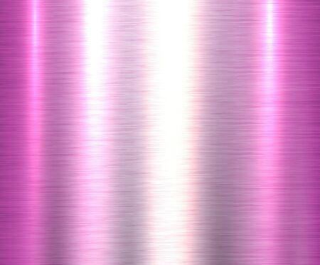 Metallrosa Texturhintergrund, gebürstete metallische Texturplatte. Vektorgrafik