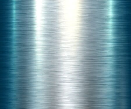 Polished metallic steel texture, blue vector brushed metal texture