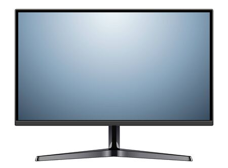 Monitor TV isolated, vector illustration.