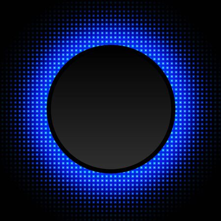 Abstract background with glowing neon circle, vector illustration.