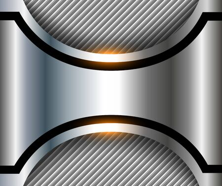 Elegant metallic background 3D, striped silver, vector design.