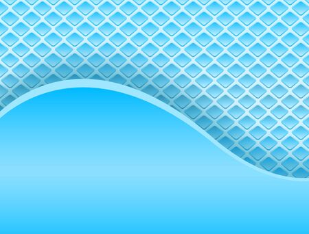 Abstract backround 3D, wavy blue lines on dotted background, vector illustration