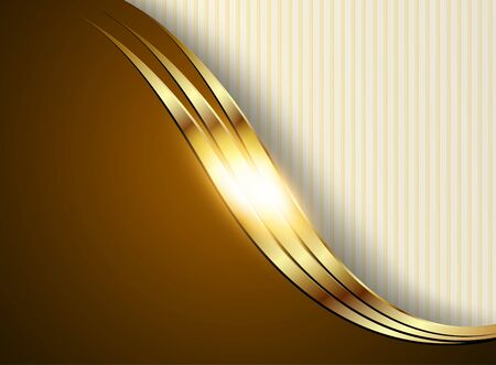 Business background, gold and brown, vector shiny metallic.