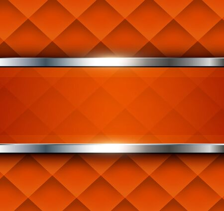 Orange abstract background  with square pattern, vector illustration.