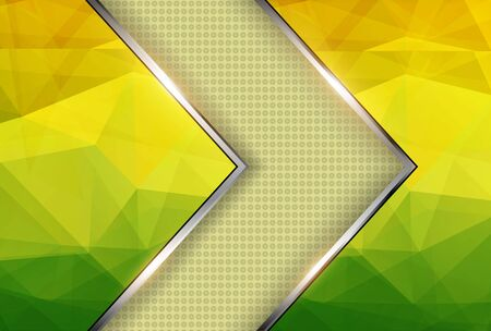 Abstract background yellow green texture triangle pattern.