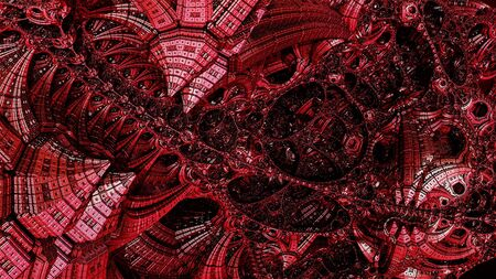 Abstract background, fantastic 3D structures, dark and bloody fictional background. Stock fotó