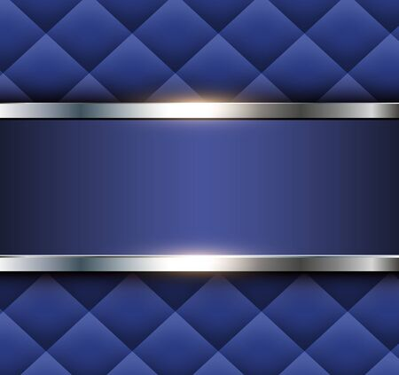 Blue abstract background with square pattern, vector illustration. Illusztráció