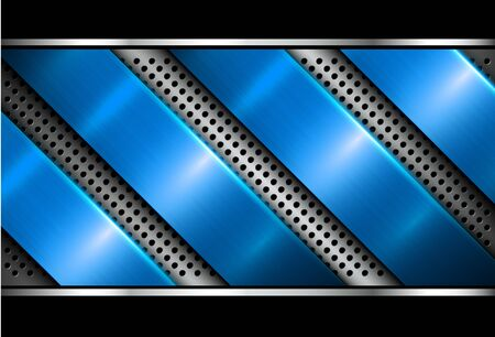 Silver blue metallic background, 3D with dotted pattern, vector illustration. Illusztráció