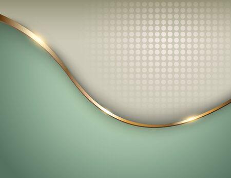 Business-Hintergrund grün mit Gold, elegante Vektor-Illustration.