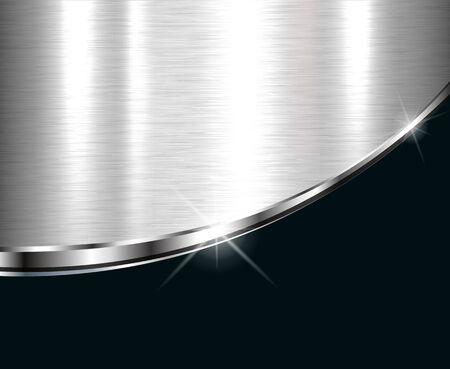 Fond métallique élégant, dessin vectoriel.
