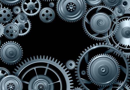 Fond d'engrenages, travail d'équipe et conception de vecteur de concept de précision Vecteurs