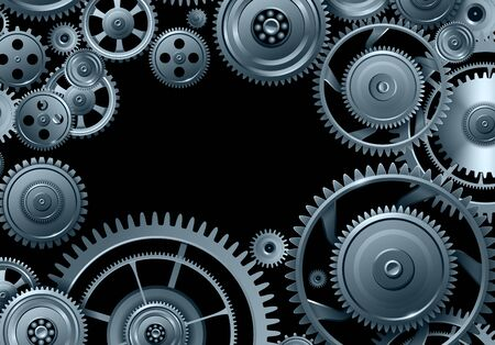 Gears background, teamwork and precision concept vector design Vector Illustration