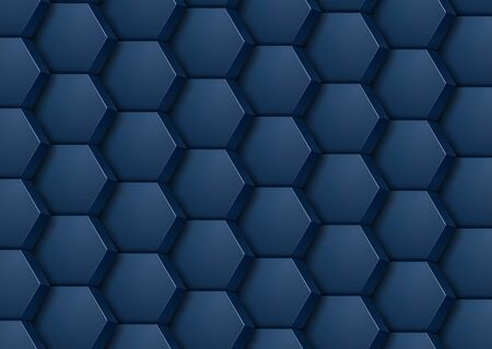 Abstract background 3D hexagons mosaic, interesting vector illustration.
