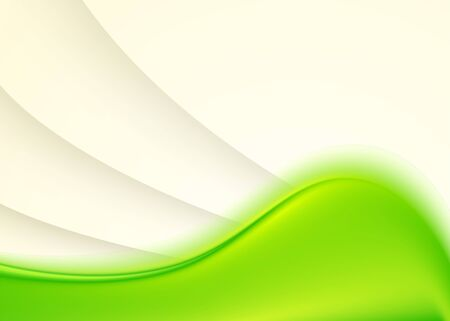 Green abstract background with smooth lines Ilustrace
