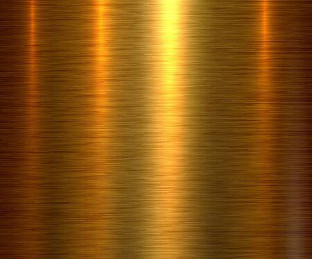 Metallgoldbeschaffenheitshintergrund, gebürstete metallische Beschaffenheitsplatte. Vektorgrafik