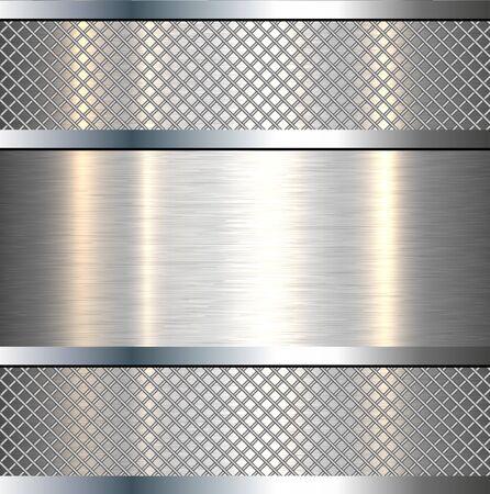 Background metallic silver technology vector illustration.