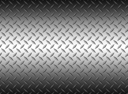 L'arrière-plan de la texture de la tôle en acier diamant, illustration vectorielle. Vecteurs