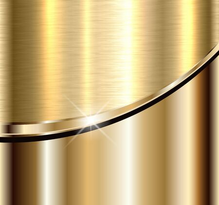 Background elegant gold metal texture, vector illustration. Vetores