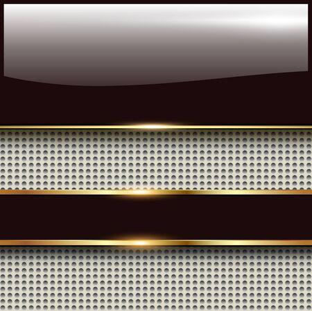 Business background, 3d glossy vector illustration. Vecteurs