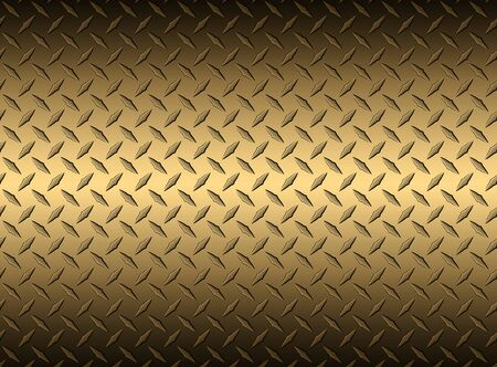 The diamond steel metal sheet texture background gold, vector illustration.