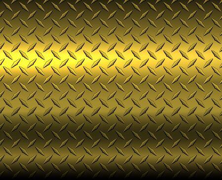 Gold diamond steel metal sheet texture background, vector illustration.