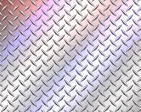 Texture en acier inoxydable métallique, illustration vectorielle de diamant tôle texture fond.