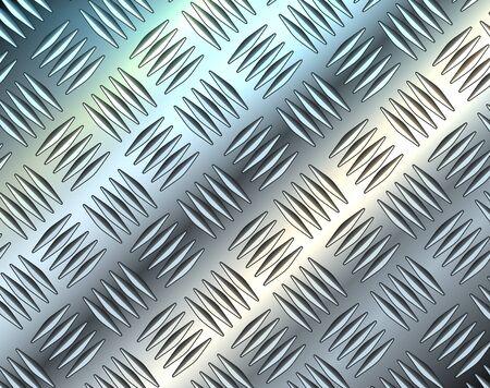 Metallic silver diamond steel metal sheet texture background, vector illustration.