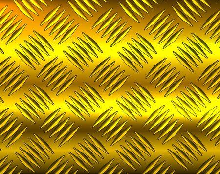 Metallic gold diamond steel metal sheet texture background, vector illustration.