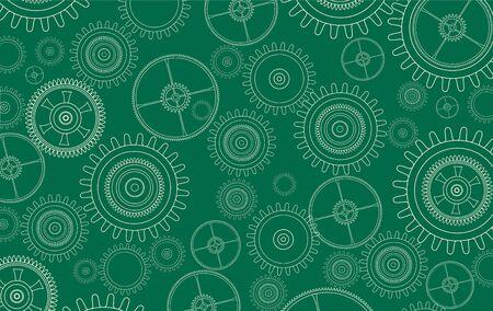Background with technology gears and cogwheels, vector illustration. Ilustración de vector