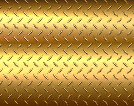 The diamond gold metal sheet texture background, vector illustration. Illusztráció