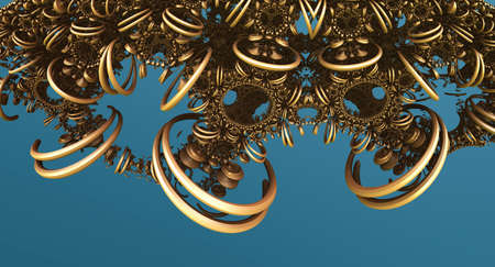 Abstract background, fantastic 3D circles and structures.
